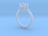CC8- Engagement Ring Printed Wax Resin For Jeweler 3d printed