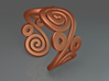 2 Spirals and ovals ring 3d printed 2 Spirals and ovals ring (Bronze)