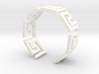 Greek Meandros ring - size 7 3d printed