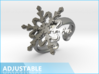 Snowflake Ring 2 d=16.5mm Adjustable h35d165a 3d printed