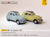 SET 2x Citroën 2CV '61-'65 (TT 1:120) 3d printed