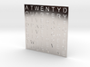 Timesquare Wordclock faceplate (Helvetica font) 3d printed