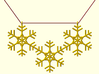 Snowflakes Necklace 3d printed Digital image. Not for sell.