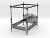 1:48 Four Poster Canopy Bed 3d printed