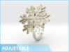 Snowflake Ring 1 d=19.5mm Adjustable h21d195a 3d printed