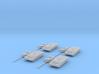T-14 Armata platoon 1:285 separate turrets. 3d printed