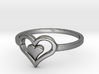 Heart Ring size 6 3d printed