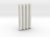 1:6 Decorative Radiator Parts - Middle Four Count 3d printed