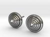 Lux spike Earrings 3d printed