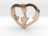Two in Love Pendant - Amour Collection 3d printed