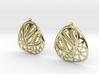 Organic and angular earrings 3d printed