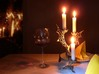 LUX DRACONIS 001  3d printed 3D printed candleholder LUX DRACONIS 001 in steel