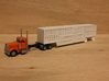 1:160 N Scale 53' Spread Axle Livestock x2 3d printed