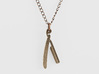 Straight Razor Necklace 3d printed Straight Razor Necklace - Stainless Steel
