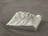 4'' Grand Tetons, Wyoming, USA, Sandstone 3d printed Radiance rendering of model, viewed from the East