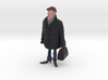 Man holding a suitcase 3d printed