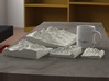 """8'' Grand Tetons, Wyoming, USA, Sandstone 3d printed Rendering of all available sizes: 3"""", 4"""", 6"""", 8"""""""