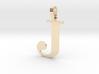 J Letter Pendant Small 3d printed