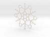 Untangled Snowflake 3d printed