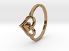 Heart Ring Size 5 3d printed