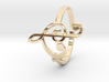 Size 9 Clefs Ring 3d printed