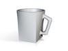 Square to circle mug 3d printed
