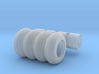 1/64 Wheels For Stoltzfus WLS-50 Spreader  3d printed