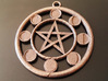 Lunar Phases Pentacle Pendant 3d printed