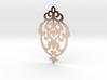 BlakOpal Victorian Damask Earring 3d printed