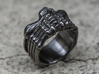 Alien FaceHugger ring SIZE 9.5 US 3d printed black rhodium plate
