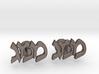 "Hebrew Monogram Cufflinks - ""Mem Mem Gimmel"" 3d printed"
