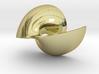 Golden Vortex Shell CW 3d printed