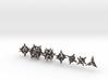 'Radial' 7 dice balanced gaming set + decader 3d printed