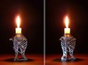 LUX DRACONIS 006 3d printed D printed candleholder LUX DRACONIS 006 in po