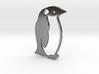Penguin Outline Pendant 3d printed