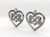 Celtic Heart earrings 3d printed