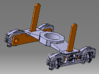"""N Scale PRR 2D-T4 """"Dolphin"""" Tender Truck for BACHM 3d printed CAD Model w/Bachmann Pickups"""