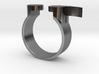 Semi Colon Ring Size 6.5 3d printed