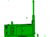1/87th Construction Generator light tower trailer 3d printed