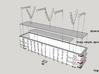 Z-scale 'steel' coal gondola   3d printed