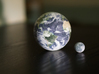 Earth & Moon to scale 3d printed