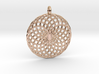 18 Ring Pendant - Flower of Life 3d printed