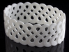 Infinite like loops - Bracelet 3d printed Infinite like loops Bracelet ( White Strong & Flexible )
