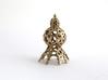 Spiroidea Radiolarian figurine 3d printed Spiroidea in stainless steel