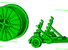 1/87th HO Scale Cable Reel Spool Trailer 3d printed