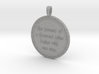 The Journey Of A Thousand | Jewelry Quote Necklace 3d printed