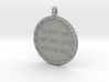 To Draw, You Must Close | Jewelry Quote Necklace. 3d printed