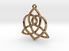Sisters Knot Pendant 3d printed