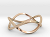 Size 8 Infinity Twist Ring 3d printed