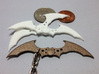 Arkham Asylum Batarang 3d printed Stainless Steel & White Strong Batarangs